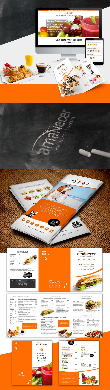dise de Identidad Visual Corporativa para cafetería Amanecer