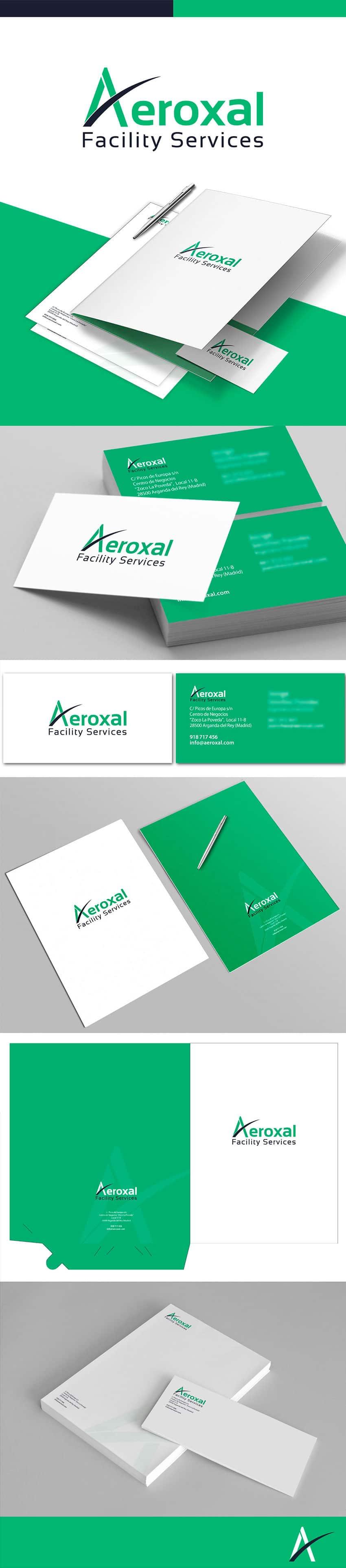 Papelería Corporativa de la empresa Aeroxal