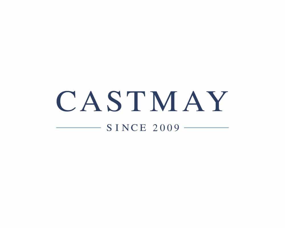 diseño de logotipo para estuido de joyería Castmay