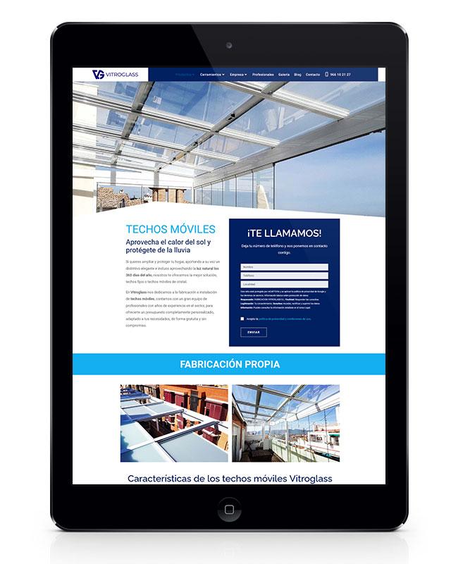 diseño web de techos móviles