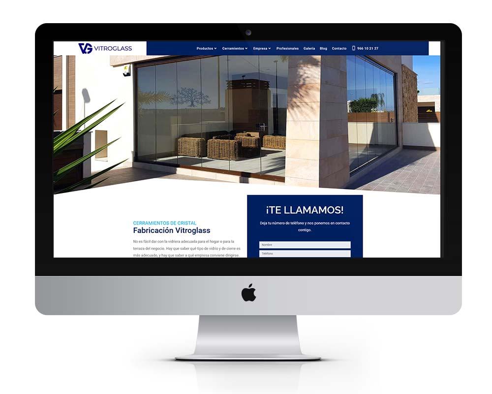 diseño web empresa cerramientos