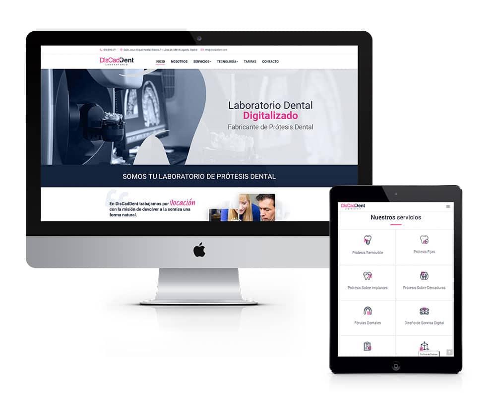 Diseño de Página Web para Laboratorio Dental
