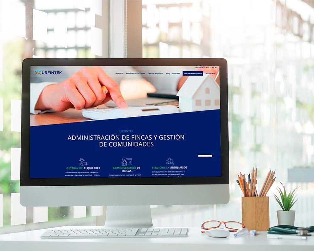 diseño web para empresa de Administración de Fincas en Madrid